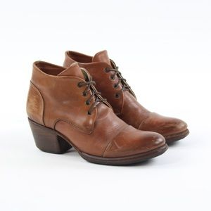 Sutro San Francisco Leather Ankle Lace Up Booties